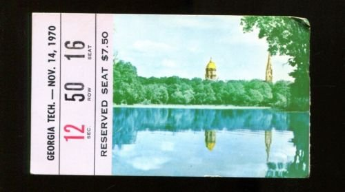 1970 Notre Dame v Georgia Tech Football Ticket 11/14/70 25281 (Georgia Football Tickets compare prices)