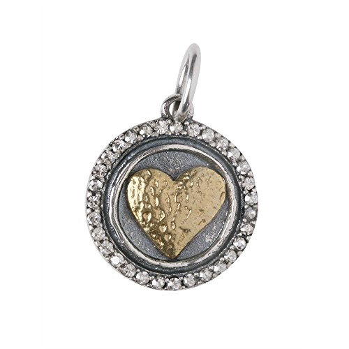 Waxing Poetic Heart s Content Charm - Silver and B…