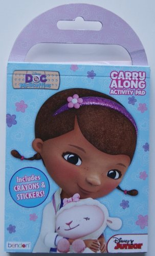 "Doc McStuffins Carry Along Activity Pad with Stickers and Crayons ((Pocket-sized: 4""   X 5"") - 1"