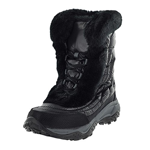 The North Face Nuptse Fur II Winter Boot (Little Kid/Big Kid),Shiny Black/Black,10 M US Toddler