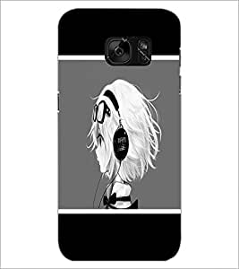 PrintDhaba Music Girl D-1367 Back Case Cover for SAMSUNG GALAXY S7 (Multi-Coloured)