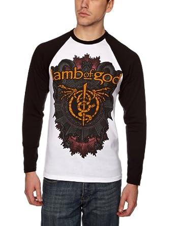 Lamb Of God Dragon Men'S T-Shirt White/Black Large