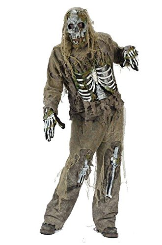 Fun World - Skeleton Zombie Adult Costume - Standard One-Size