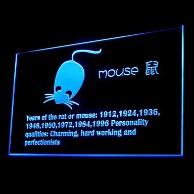 Chinese Zodiac Mouse Advertising Led Light Sign