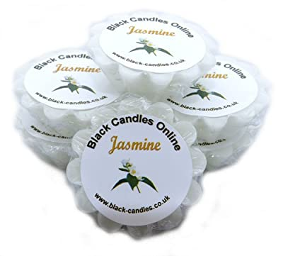 6 Jasmine Scented Wax Tarts from Black Candles Online