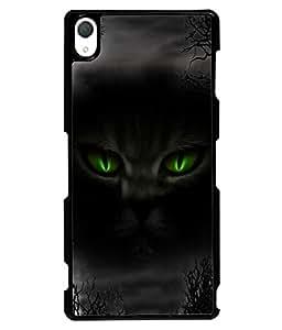 PRINTVISA Black Night Premium Metallic Insert Back Case Cover for Sony Xperia Z3 - D5667