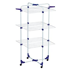 portable 18m folding clothes airer dryer free. Black Bedroom Furniture Sets. Home Design Ideas