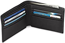 Napa Leather RFID Protected Billfold Wallet - Black