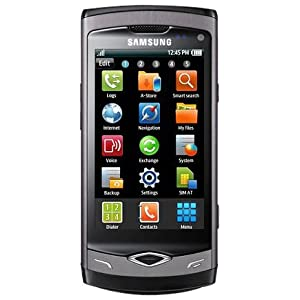 Samsung S8500 Wave Mobile Phone SIM Free - Ebony Grey