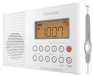Sangean H201 AM/FM/Weather, Digital tuned Waterproof/Shower Radio
