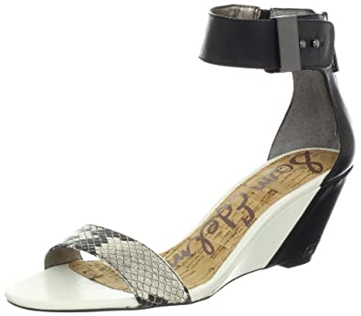 Sam Edelman Women's Sophie Wedge Sandal,Beige Multi/Black,7 M US