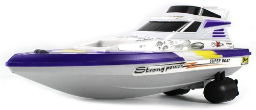 Velocity Toys Surf King Yacht Electric Rc Speed Boat Full Function Rtr Ready To Run, Perfect For Pools, Ponds, Lakes, Rivers, Etc