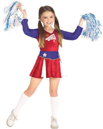 Retro Cheerleader Halloween Costume Children Size Large
