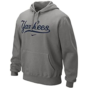Nike New York Yankees Classic Pullover Hoodie, Ash Gray by Nike