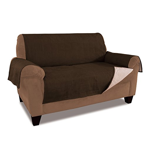 Anti Slip Water Resistant Microsuede Sofa Furniture Protector Slipcover Gpd Chocolate Home