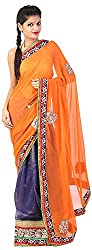 Mili Women's Chiffon Saree - (Multi-Coloured, MS-58)