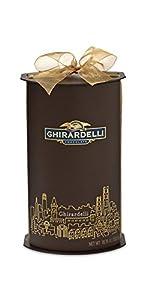 Ghirardelli Winter Wishes Gift Cylinder Chocolates, 1.88 Pound