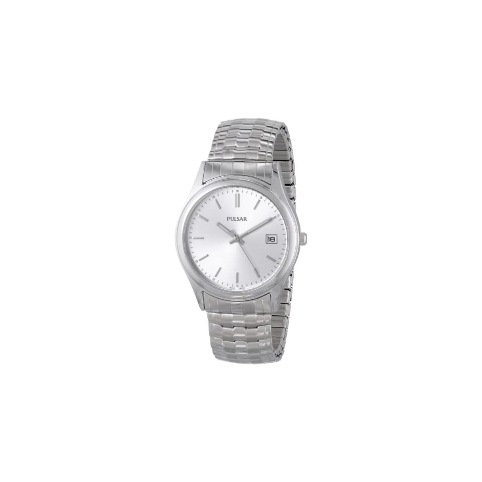 Pulsar Mens PXH429 Expansion Silver Tone Stainless Steel Watch
