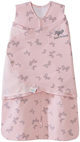 Halo Sleepsack Swaddle,100% Cotton, Butterfly Scribble, Pink, Small