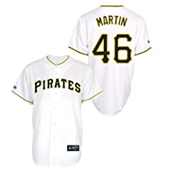 Russell Martin Pittsburgh Pirates Home Replica Jersey by Majestic by Majestic