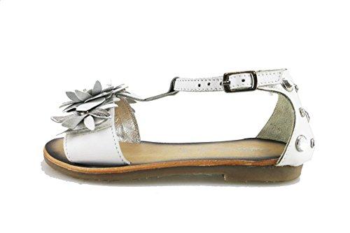 scarpe bambina LULU' sandali bianco / argento pelle AG647 (EU 32)