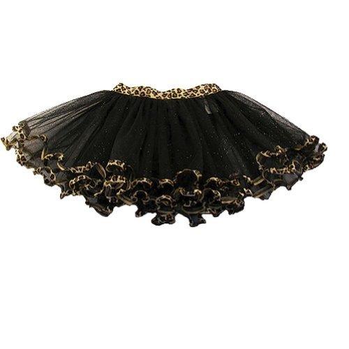 reflectionz Little Girls Black Leopard Trim Dance Ballet Tutu 2-6 Reflectionz