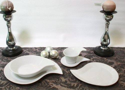 DINNER SET BOLOGNA 8 PERSON 40PCS WHITEWARE CROCKERY - Tinas Collection - The different design