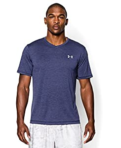 Men's Under Armour Tech V-Neck T-Shirt, Midnight Navy (410), Large