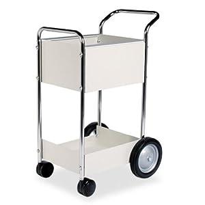 """Fellowes 40924 Steel Mini Mail Cart - 39-1/4""""H x 20-1/2""""W x 26""""D"""