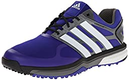 adidas Men\'s Adipower s Boost Golf Shoe, Night Flash/Running White/Dark Silver Metallic, 7.5 M US