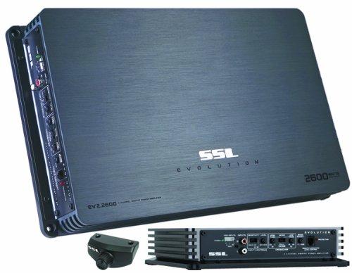Ssl Ev2.2600 Evolution 2600W, 2 Channel Mosfet Amplifier With Remote Subwoofer Level Control