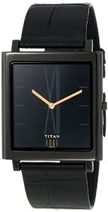 buy titan edge analog black dial men s watch nb1518nl01