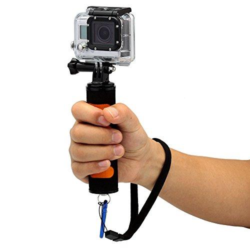 "Neewer® 1/4"" Screw Anti-Skid Hand Holder Sponge Hand Grip Handle Stabilizer For Gopro Hero 4/3+/3/2/1 And Other Dslr Cameras Camcorders Led Cam-Light (Orange)"