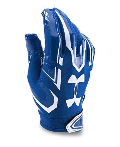 Under Armour Boys' F5 Football Gloves, Royal (400), Youth Small