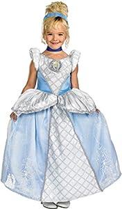 Disguise Disney Storybook Cinderella Prestige Toddler / Child Costume Blue Toddler (3-4T)