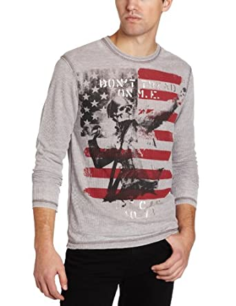 Marc ecko cut sew men 39 s don 39 t tread thermal shirt gray for Marc ecko dress shirts