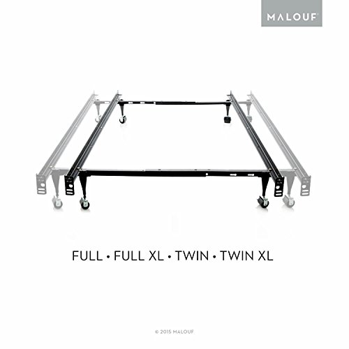 structures twinfull adjustable metal bed frame with rug rollers furniture beds accessories frames - Adjustable Metal Bed Frame