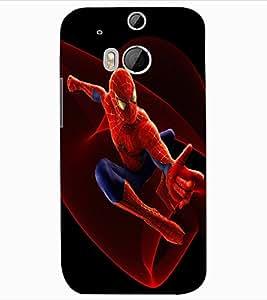 ColourCraft Superhero Design Back Case Cover for HTC ONE M8