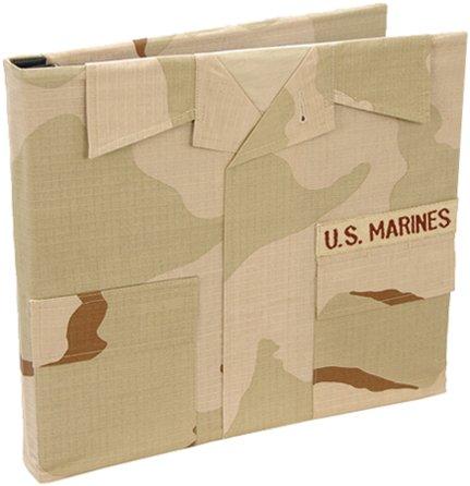 Uniformed U.S. Marine Desert Combat Uniform Keepsake Album