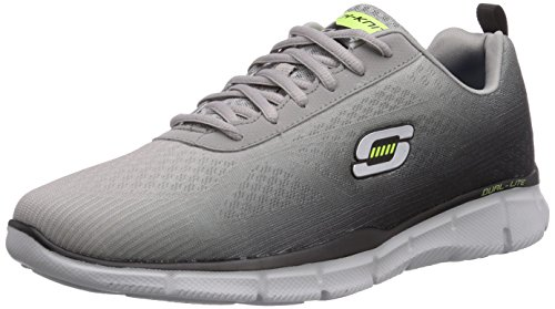Skechers - Equalizer This Way, Sneakers da uomo, grigio (gybk), 43