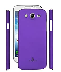 Fuson Rubberised Hard Back Case Cover For Samsung Galaxy Mega 5.8 I9152 - Purple