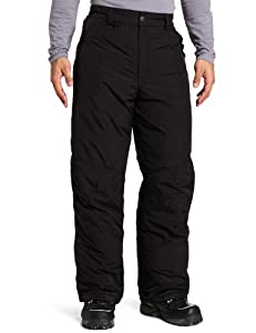 White Sierra Men's Insulated 32-Inch Inseam Snow Pant (Black, Small)