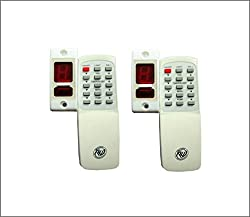 Walnut Innovations Combo Of 2 Wireless Remote Control for Light & Fan with Speed Regulation