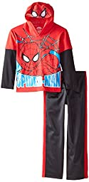 Marvel Boys\'  Hooded Top and Pant Set, Red 4, 5