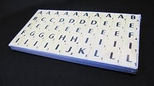 Plastic Scrabble Tiles - Complete replacement set 100 ivory & black tiles. Craft Jewellery Scrapbooking Collage