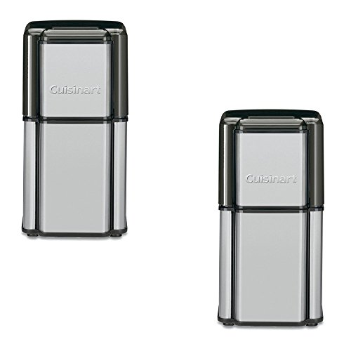 Cuisinart 3.2-oz Black/Chrome Coffee Grinder - Cuisinart Model - DCG-12BC - Set of 2 Gift Bundle