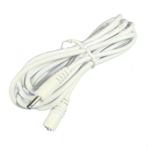 6 Ft 1.3Mm Dc Power Extension Cable For Foscam, Agasio, Tenvis, Loftek Wireless Ip Camera, White
