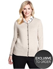 Plus Bobble Button Tipped Cardigan