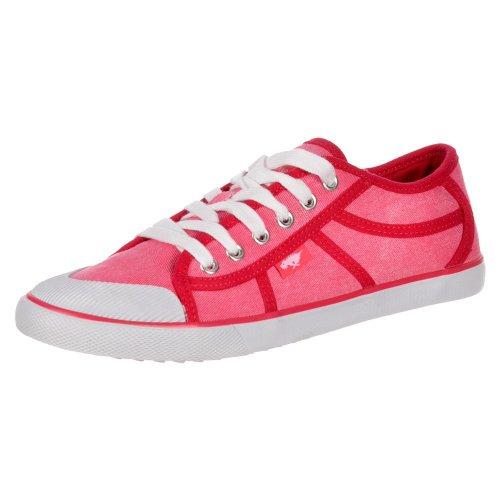 pictures of Rocket Dog Women's Amaya Sidewalk Canvass Flat Lace Up Deck Shoes Trainers Pink UK8 - EU41 - US10 - AU9