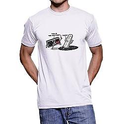Fanideaz Men's Cotton Mixed Polyester Gaming Joysticks T Shirt_White_M